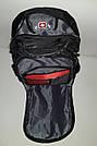 Швейцарский рюкзак WENGER SwissGear 6621 черно-серый с дождевиком, USB-кабелем, разъёмом под наушники реплика, фото 8