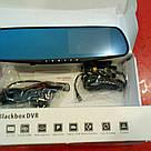 Автомобильное зеркало видеорегистратор для машины на 2 камеры VEHICLE BLACKBOX DVR 1080p камерой заднего вида, фото 6