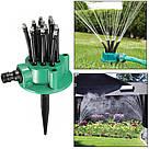 Спринклерный ороситель 360 multifunctional Water / разбрызгиватель / распылитель для полива газона / Оригинал, фото 5