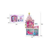 Будиночок для ляльок (дом для кукол барби) 66920 (3шт) 2-х поверховий, з ляльками, меблями, у кор. 64*14*36,5