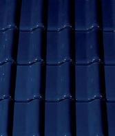 Керамическая черепица Creaton Futura Noblesse темно-синяя глазурь., фото 1