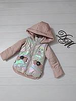Куртка-жилет для девочки «Крошка», фото 1