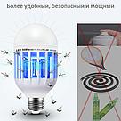 Антимоскитная светодиодная лампа ловушка уничтожитель Zapp Light 2 в 1 против комаров москитов мошек фумигатор, фото 5