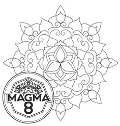 Раскраска мандала для развития духовности и жизненных сил «KALI» (низкая сложность).