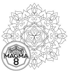 Раскраска мандала для развития духовности и жизненных сил «KALI» (средняя сложность).