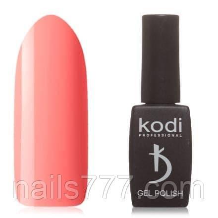 Гель-лак Kodi 50 SL, ярко розово-оранжевый,8 мл
