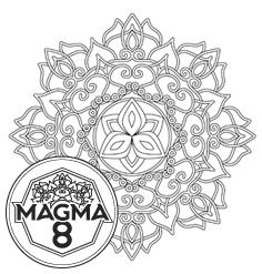 Раскраска мандала для развития духовности и жизненных сил «KALI» (высокая сложность).