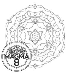 Раскраска мандала для привлечения денег и удачи «GANESHA» (средняя сложность).