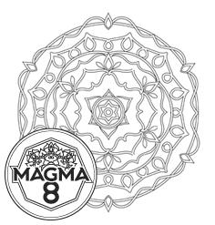 Раскраска мандала для привлечения денег и удачи «GANESHA» (высокая сложность).