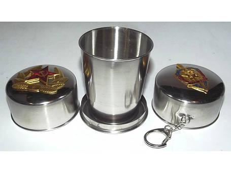 Складаний стакан з нержавіючої сталі (з емблемою), фото 2