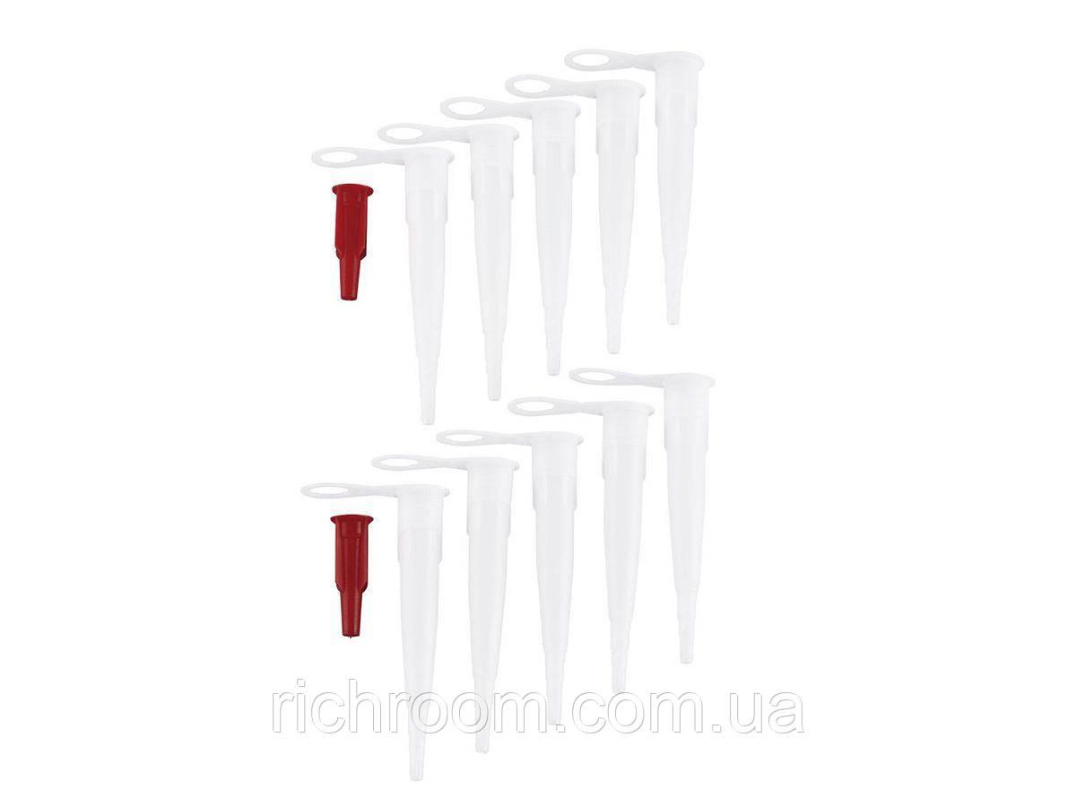 Насадки к шприцу (картриджу) для герметика или силикона, набор 10 шт.