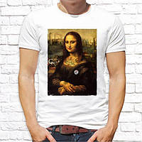 """Футболка мужская Push IT с дизайнерским принтом """"Мона Лиза"""""""