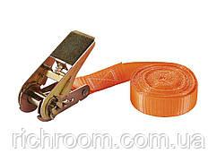 Ремінь стяжний з замком POWERFIX, 5 м, , помаранчевий