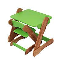 Столик и стульчик детский Карапуз p101+c101 зеленый