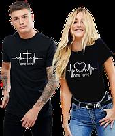 Парные футболки свитшоты худи (любой принт под заказ) в наличии черный, серый,темно-синий