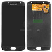 Дисплей для Samsung Galaxy J7 2017 J730F Оригинал Черный с сенсором #GH97-20736A/GH97-20801A