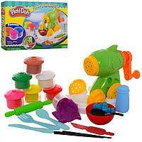 Детский набор для лепки разноцветный пластилин Play Doh (8 цветов, аксессуары, аппарат пресс)