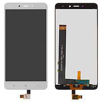 Дисплей для Xiaomi Redmi Note 4 Оригинал Белый с сенсором MediaTek