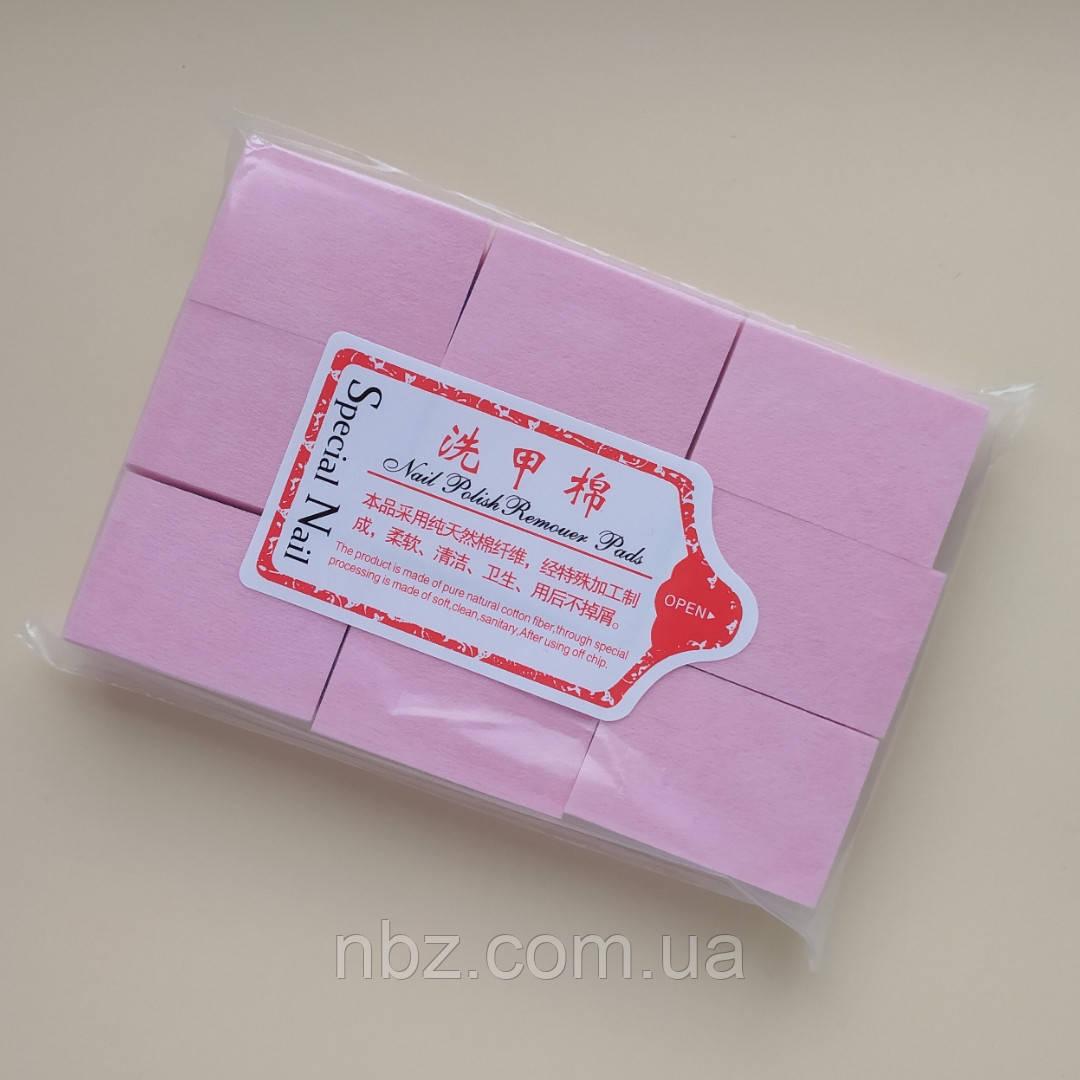 Салфетки безворсовые плотные. Розовые.
