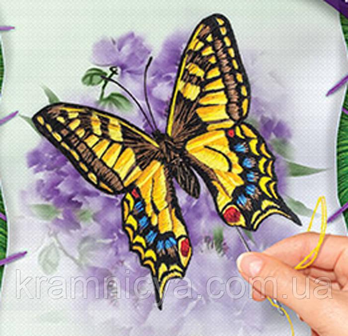 Вышивка гладью на холсте Бабочка, VGL-01-02