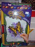 Вышивка гладью на холсте Бабочка, VGL-01-02, фото 4
