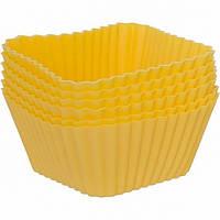 VC-1469, Набор форм силиконовых для выпечки кексов Vincent 6,5х6,5х3,2 см 6 пр