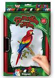 Вишивка гладдю на полотні Папуга, VGL-01-01, фото 2
