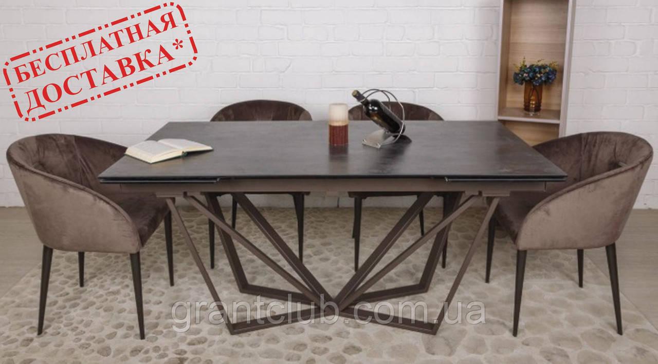 Стол обеденный NOTTINGHAM (Ноттингем) 160/240х90 керамика коричневый Nicolas (бесплатная адресная доставка)