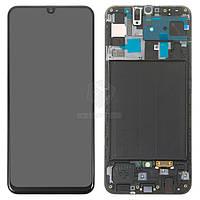 Дисплей для Samsung Galaxy A50 A505F/DS Оригинал Черный с сенсором и рамкой #GH82-19204A