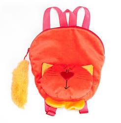 """Мягкая сумка-рюкзак детская """"Котик"""" 29 см Fancy, красный (ROG01)"""