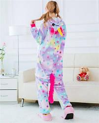 Пижама кигуруми Взрослые и Детские Единорог из флиса,размер M
