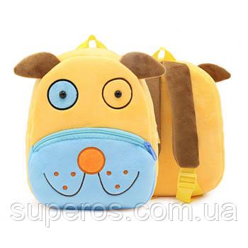 Дитячий плюшевий рюкзак Kakoo Жовто-синій пес (оригінал)