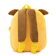 Детский плюшевый рюкзак Kakoo Желто-синий пес (оригинал), фото 3