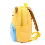 Детский плюшевый рюкзак Kakoo Желто-синий пес (оригинал), фото 5
