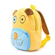 Детский плюшевый рюкзак Kakoo Желто-синий пес (оригинал), фото 6