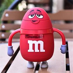 Термос детский с трубочкой M&Ms, красный (123819)