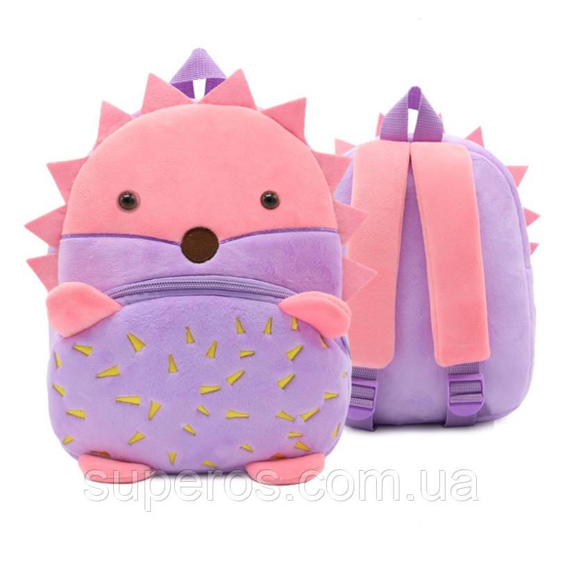 Дитячий плюшевий рюкзак для дівчинки Kakoo Їжачок
