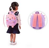 Дитячий плюшевий рюкзак для дівчинки Kakoo Їжачок, фото 5