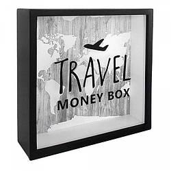 Деревянная копилка для денег Travel money box (123839)