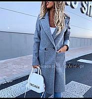Пальто женское кашемировое, бежевое, чёрное, серое