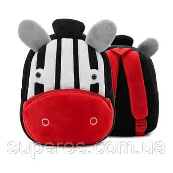 Дитячий плюшевий рюкзак Kakoo Зебра