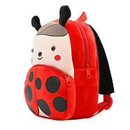 Детский плюшевый рюкзак Kakoo Божья коровка (оригинал), фото 2