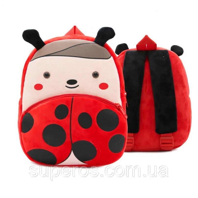 Детский плюшевый рюкзак Kakoo Божья коровка (оригинал)