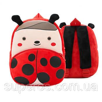 Дитячий плюшевий рюкзак Kakoo Божа корівка (оригінал)