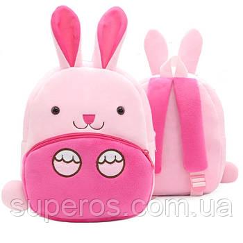 Дитячий плюшевий рюкзак Kakoo Зайчик