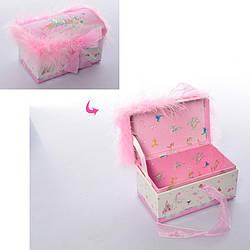 Шкатулка для украшений Metr+ 13,5х7,5х8,5 см., розовая