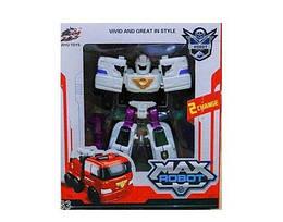 """Игрушка робот-трансформер машинка для мальчиков Maya Toys """"Пожарная машина"""", белый"""