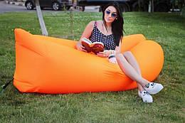 Надувное кресло-лежак 260 х 70 см., оранжевое (121971)