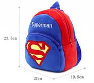 Детский плюшевый рюкзак Kakoo Superman (оригинал), фото 5