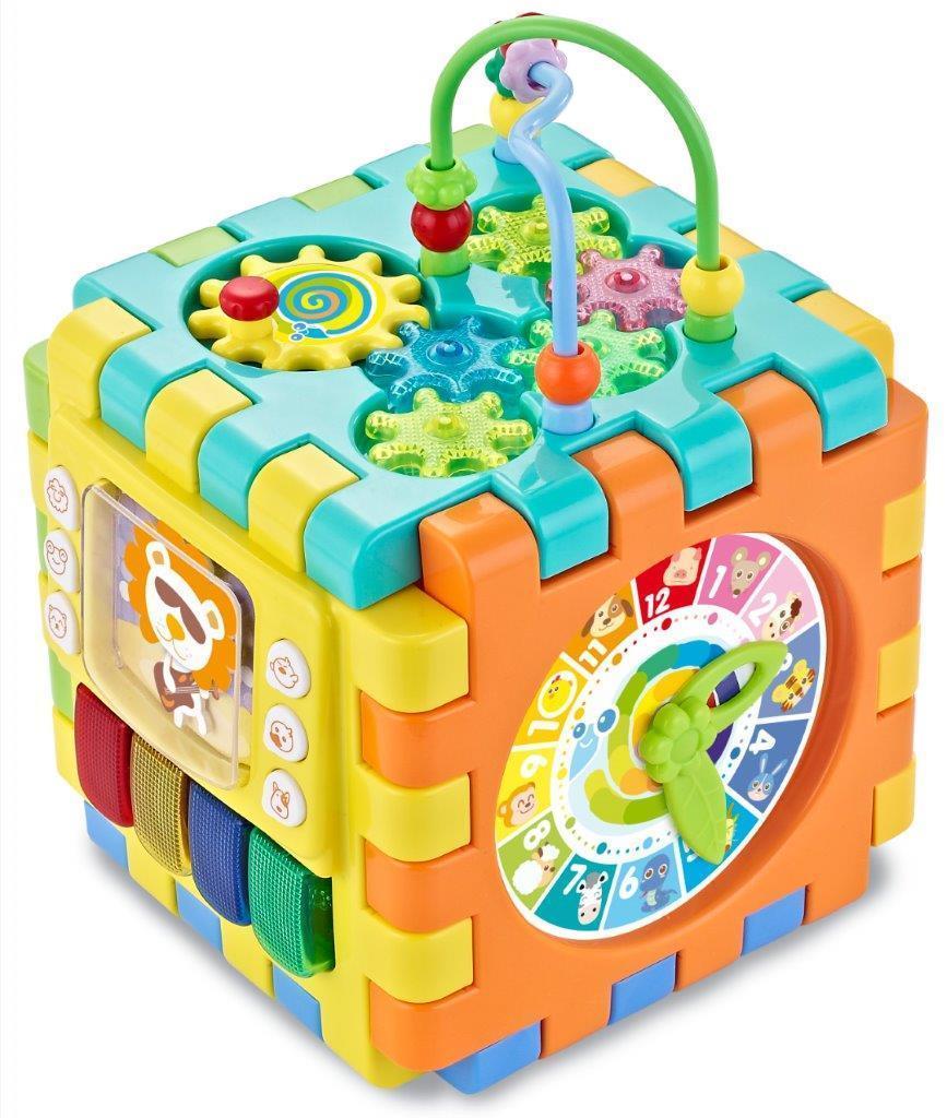 Развивающий детский многофункциональный кубик Baby Mix GW-2850, 18х18х18 см.